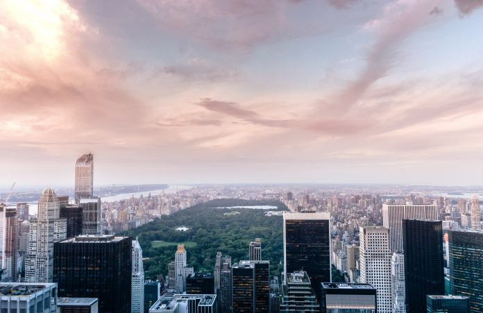 skyline view of Central Park