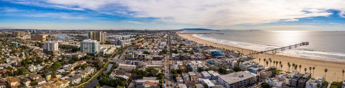 panoramic view of Venice Beach Los Angeles